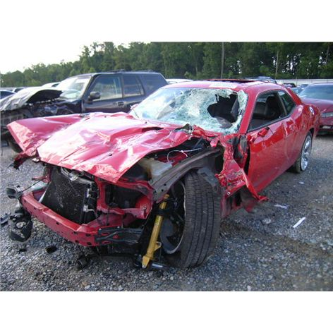 This is 2012 Dodge Challenger RT accident in Texas