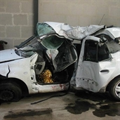 Renault clio crash in france